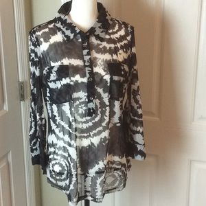 INC utility blouse with bling